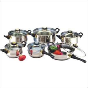 Cookware Set W/Glass Lid