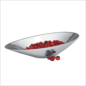 Stainless Steel double Wall Hammered serving bowl