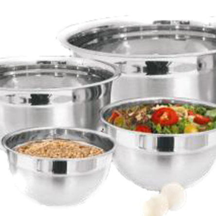 Mixing Bowl 4 Pcs Set Stainless Steel