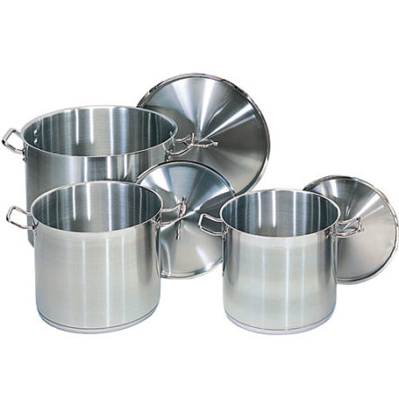 Stock Pots Stainless Steel Commercial Quality w/ Lids