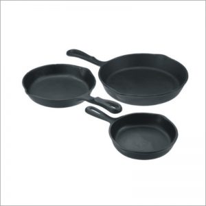 3pc Pre-Seasoned Cast Iron Skillet Set