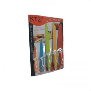 Knife Set ,Color Nonstick Coating 5pc