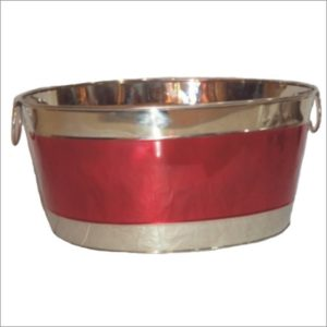Tutone Oval Party Tub Red