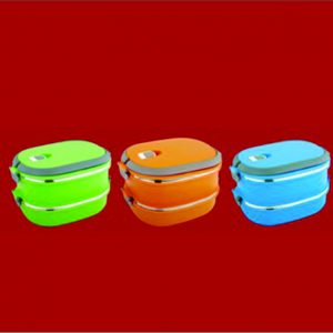 S.S.Lunch Box Double Wall 2 Layer Square