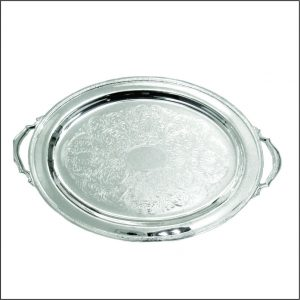 Silver Plated Oval Plate 20″ w/handle