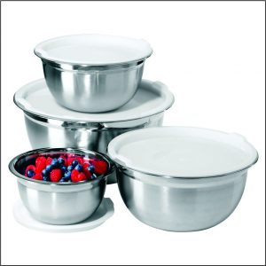 4pc Deep Bowl set with Plastic Lid