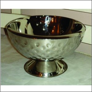 Champagne Double Wall Bowl with Dimple Design 17″ / 33cm