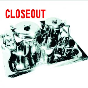 5pc Stainless Steel Tea/Coffee set (Closeout)