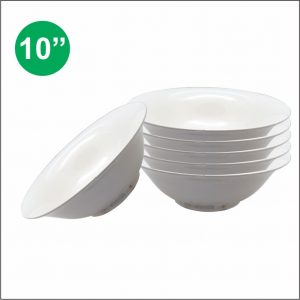 10″ Ceramic Salad Bowl w/ White Body