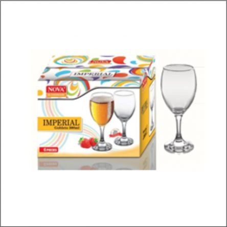 6pc set Imperial High Quality Goblet Wine Glass Glass Set 300 ml