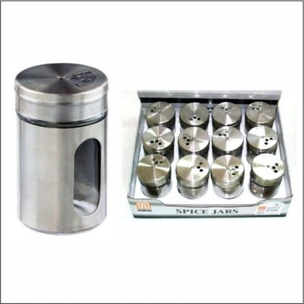 Glass Spice Jar With Stainless Steel Cover 80ml