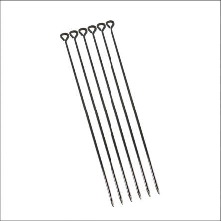 6PC BBQ SKEWRES 50CM LONG DIA 4mm (20″ LONG)  1297
