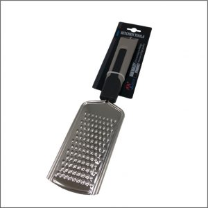 STAINLESS STEEL GRATER WITH SOFT RUBBER GRIP HANDLE
